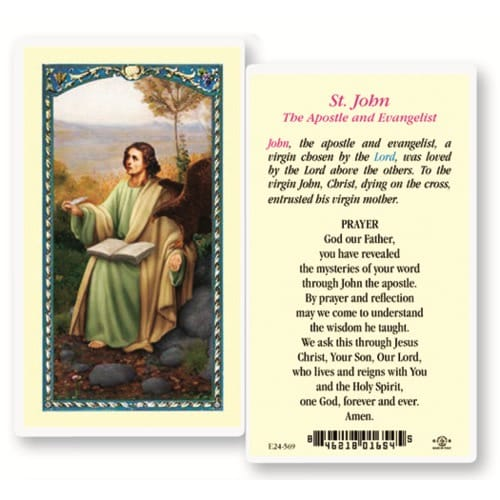 St. John the Apostle and Evangelist Prayer Card