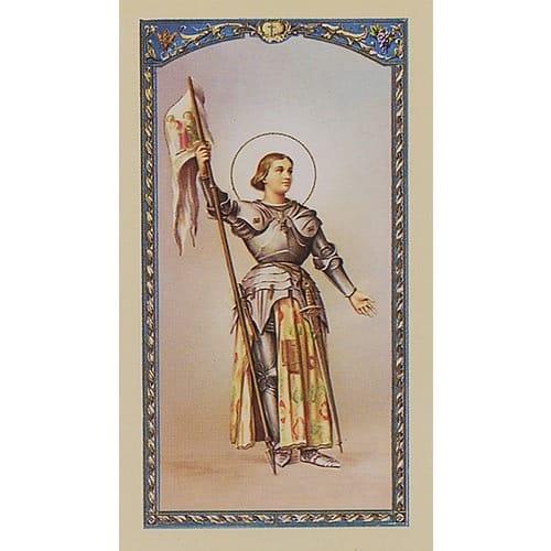 St. Joan of Arc - Prayer Card