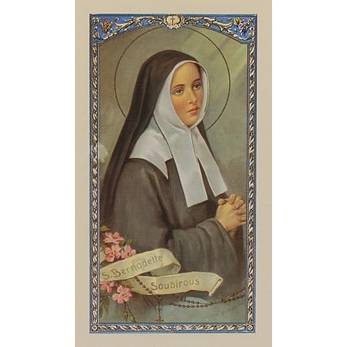 St. Bernadette - Prayer Card