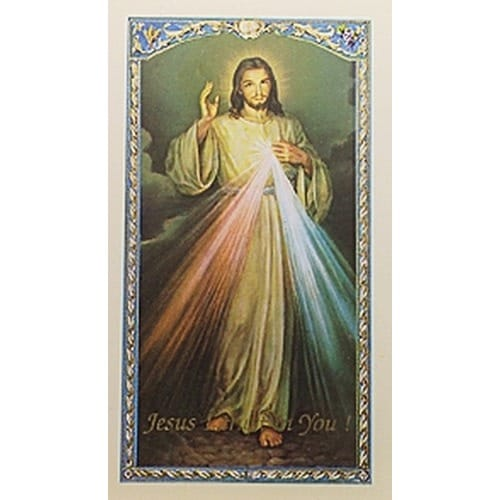 Divine Mercy - Prayer Card