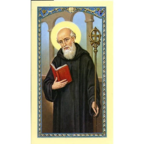 St. Benedict Laminated Prayer Card
