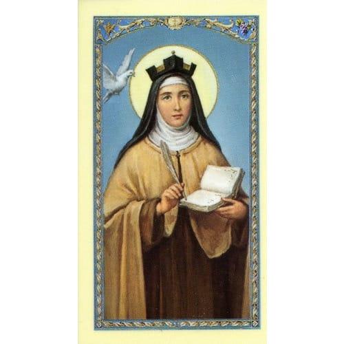 St Teresa Laminated Prayer Card