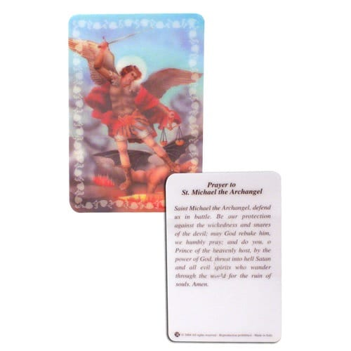St. Michael Laminated Prayer Card