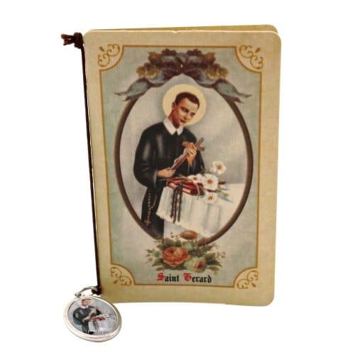 St. Gerard Folded Prayer Card with Medal