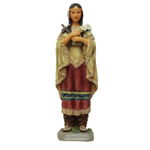 St. Kateri Tekakwitha Statue - 8 inch