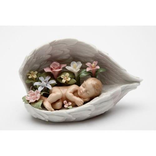 Baby in Angel Wings Porcelain Figurine