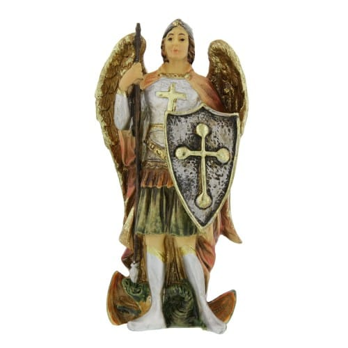St. Michael Statue and Prayer Card