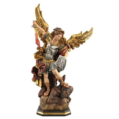 St. Michael Hand-Painted Italian Statue