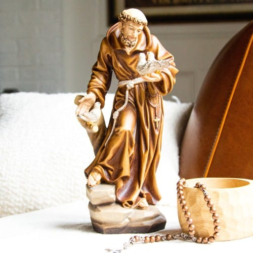 St. Francis of Assisi Hand-Painted Italian Statue