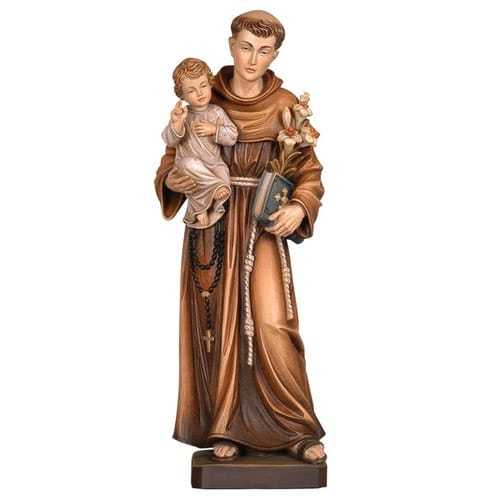 St. Anthony of Padua Hand-Painted Italian Statue
