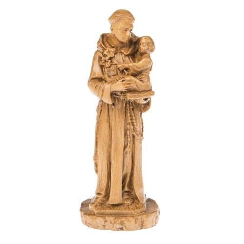 Natural Finish St. Anthony Statue