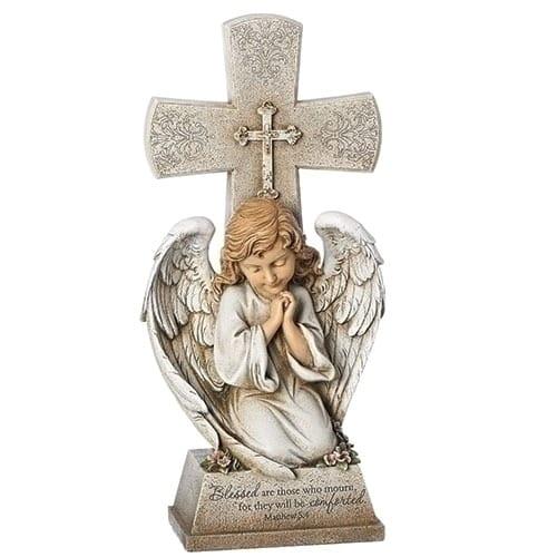Memorial Angel Cross Statue