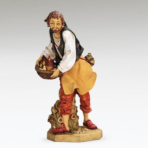 "Fontanini Lucas Shepherd Figure with Hen 27"" Scale"