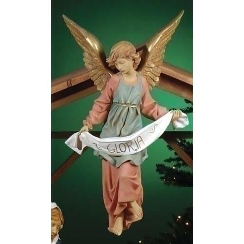 "Fontanini Gloria Angel Figure with Gold 27"" Scale"