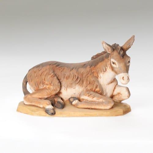 """Fontanini Donkey Nativity Figure 27"""" Scale"""