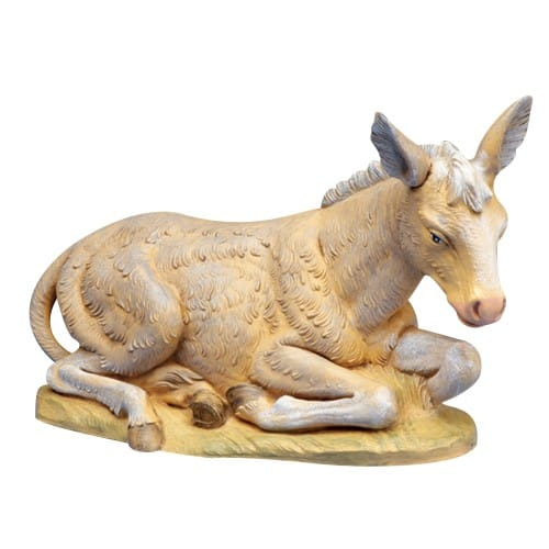 "Fontanini Seated Donkey Nativity 12"" Scale"