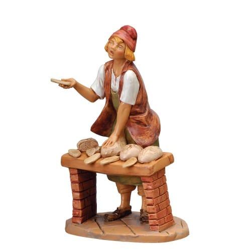 "Fontanini Darius The Baker Figure 7.5"" Scale"