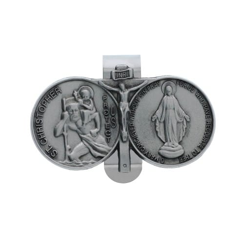 St. Christopher Miraculous Visor Clip