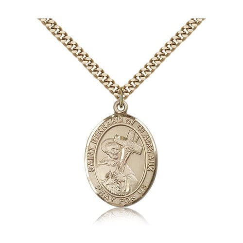 Gold Filled St. Bernard of Clairvaux Pendant w/ chain 2023297