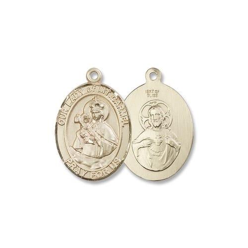 14kt Gold Our Lady of Mount Carmel Medal
