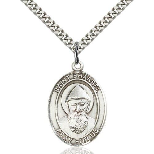 Sterling Silver St. Sharbel Pendant w/ chain
