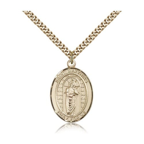 14kt Gold Filled St. Matthias the Apostle Pendant w/ chain