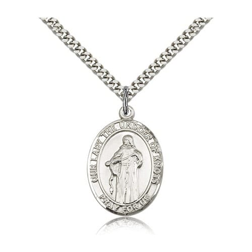 Sterling Silver Our Lady Of Knots Pendant & Chain