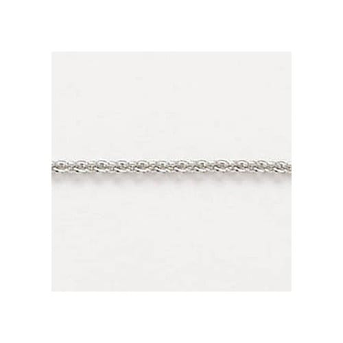 20 Inch Medium Cable Sterling Silver Chain