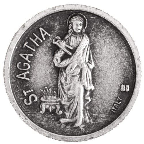 St.Agatha/St. Peregrine Pocket Coin