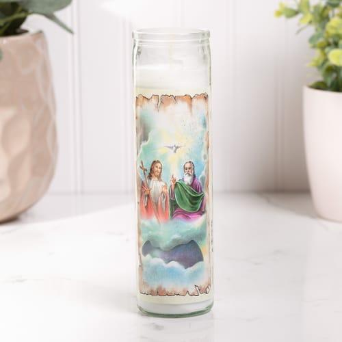 Holy Trinity Catholic Candle