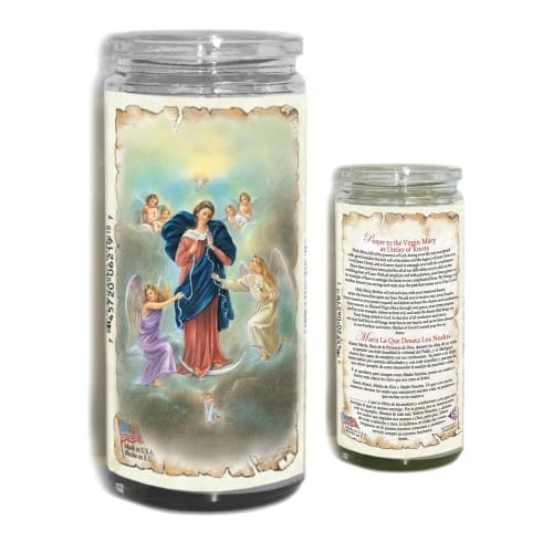 Virgin Mary Untier of Knots Devotional Candle