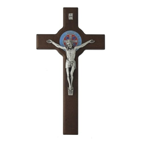 St. Benedict Dark Wood Cross, 13""