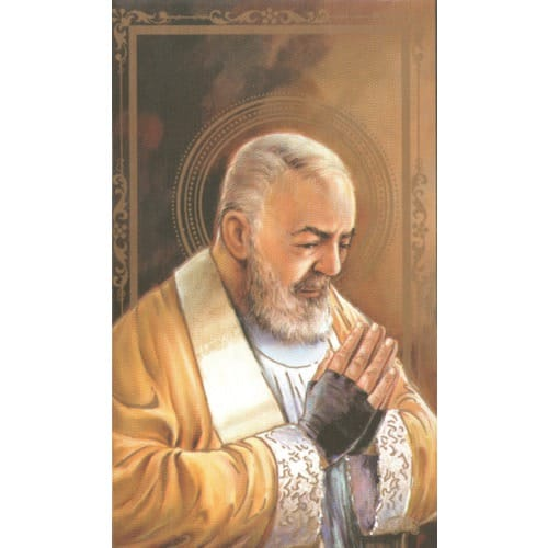 Padre Pio Personalized Prayer Cards