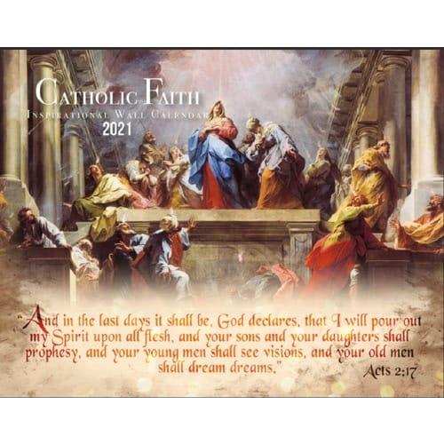 Catholic Faith Inspirational 2019 Wall Calendar