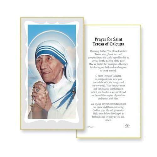 Mother Teresa of Calcutta Prayer Cards [100 Pack]