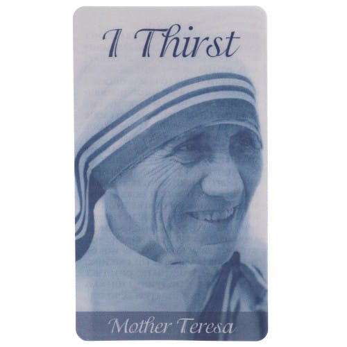 Mother Teresa Laminated Prayer Card