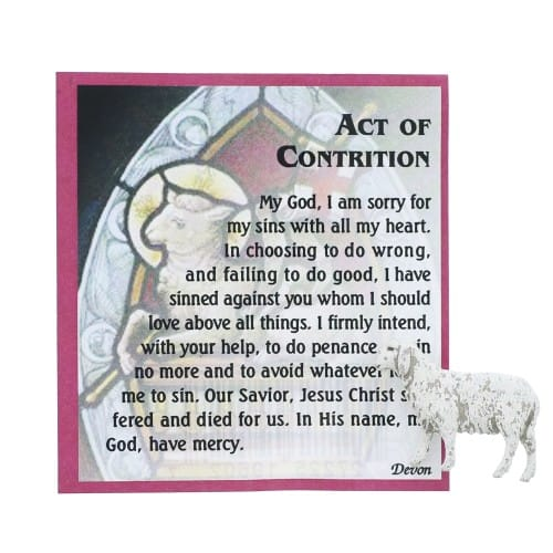 Act of Contrition Pocket Pouch with Lamb