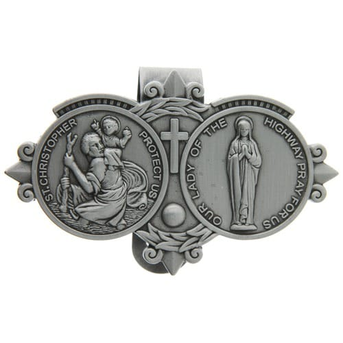 St. Christopher / Our Lady of the Highway Visor Clip