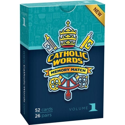 Catholic Words Card Matching Game, Vol. I