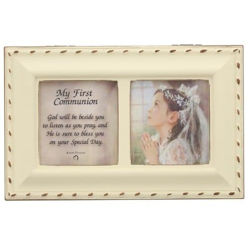 Girl's First Communion Ivory Music Box