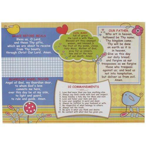 Catholic Prayer Placemat for Kids