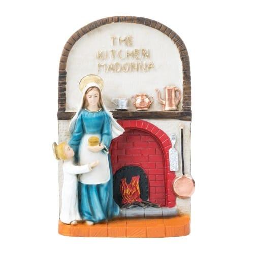 Colored Kitchen Madonna & Child Plaque