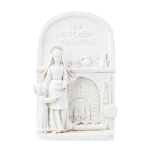 Ivory Kitchen Madonna & Child Plaque