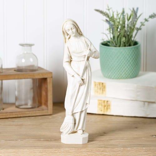 Kitchen Madonna Ivory Statue
