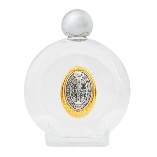 St. Benedict Medal Holy Water Bottle - Large