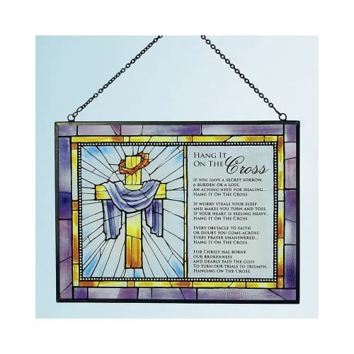 Hang It On The Cross Stained Glass Art