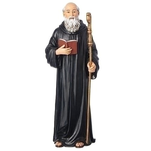 St. Benedict Color Statue