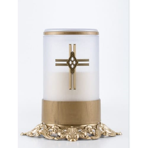 Legacy LED Brass Base Memorial Candle with Remote