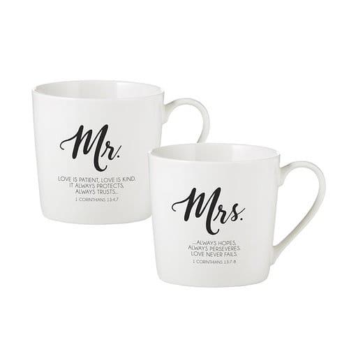 Mr. & Mrs. Marriage Mug Set