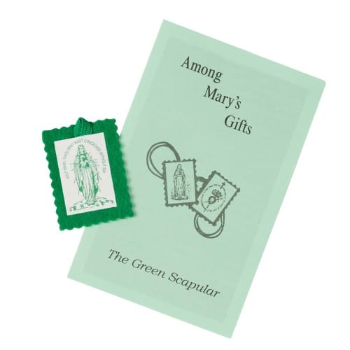 Cordless Green Scapular (Pack of 20)